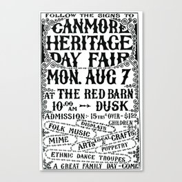 1. Canmore Folk Music Festival (1978) Canvas Print