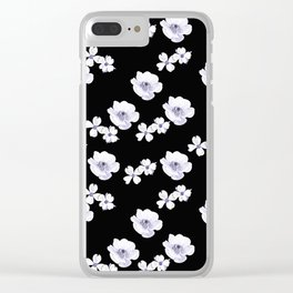 Flowers - White and Lilac Clear iPhone Case