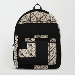 Black and Tan Art Deco Backpack