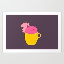 A cup of cuteness Art Print