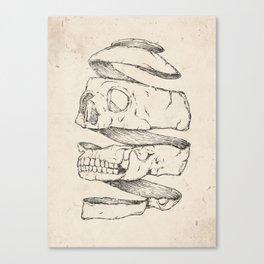 Twister Skull Canvas Print