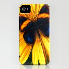 Butterfly on yellow iPhone (4, 4s) Slim Case