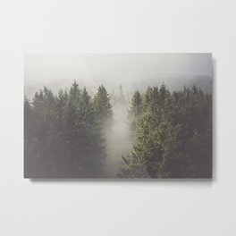 My misty way - Landscape and Nature Photography Metal Print