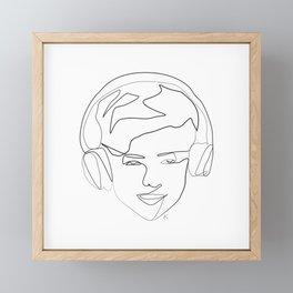 """ Gaming Collection "" - Boy Wearing Headphones Framed Mini Art Print"
