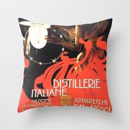Vintage poster - Distillerie Italiane Throw Pillow
