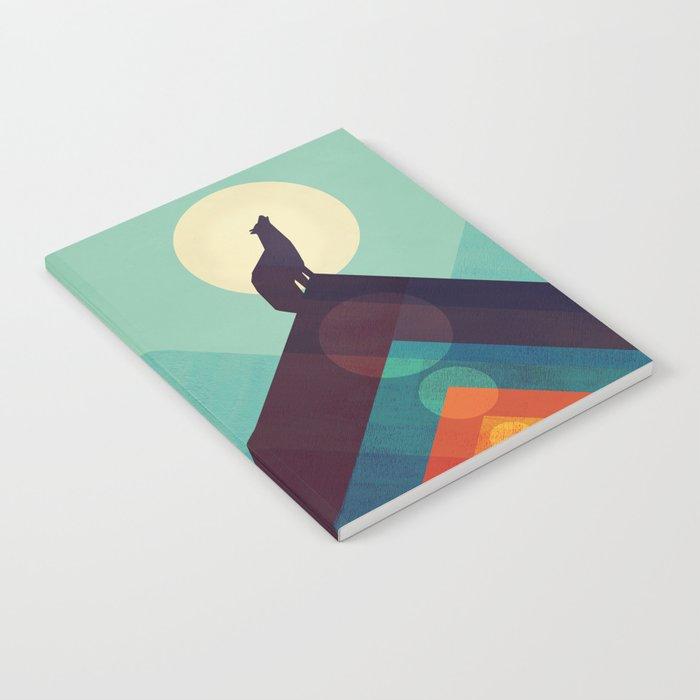 Howling Wild Wolf Notebook