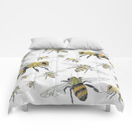 Bees - cute insects Comforters