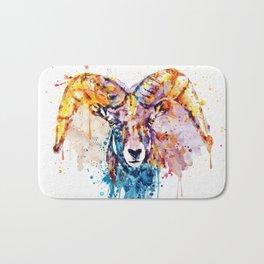 Bighorn Sheep Portrait Bath Mat