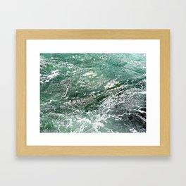 Emerald Water Framed Art Print