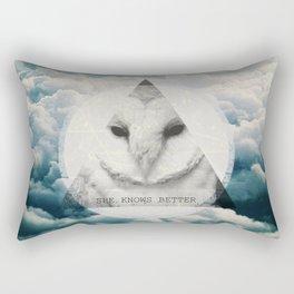 -She Knows Better Rectangular Pillow