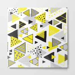 Triangles, random triangles (on white) Metal Print