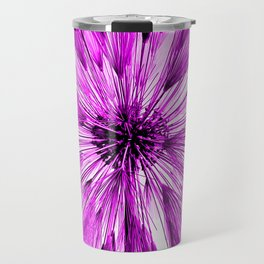 Hot Pink Star Burst Travel Mug