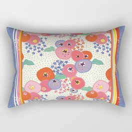 Floral rug Rectangular Pillow