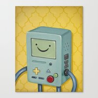 bmo Canvas Prints featuring BMO by HeatherAckley