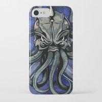 kraken iPhone & iPod Cases featuring Kraken by Spooky Dooky