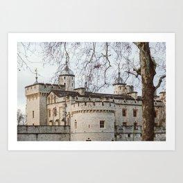 Tower of London in Winter Art Print