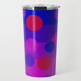 Sweet Berry Pie with Floating Circles Travel Mug