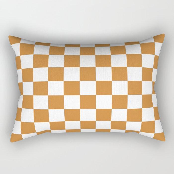 Checker (Bronze/White) Rectangular Pillow