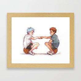 Basketball Boys Framed Art Print