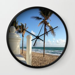 On the Water Ft Lauderdale Beach Wall Clock