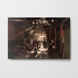 Streets of Marrakech | Morocco  Metal Print
