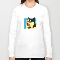 doge Long Sleeve T-shirts featuring Doge Pop by Julien