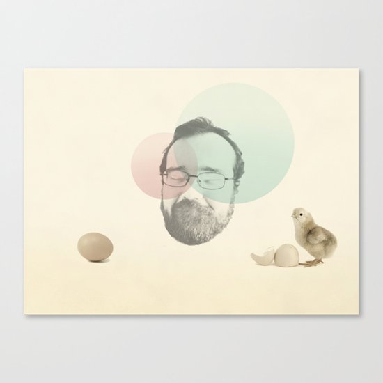 chicken and the egg Canvas Print