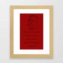 NEVER! Framed Art Print