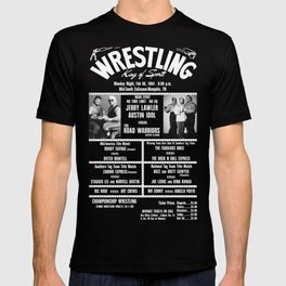 #11-B Memphis Wrestling Window Card T-shirt