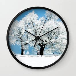 Tardis With Tree Blossom Christmas Wall Clock