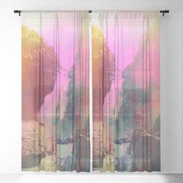 Thin Ripple Cascade Sheer Curtain