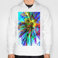 palm tree Hoodies featuring Palm Tree  by Nikki Hung