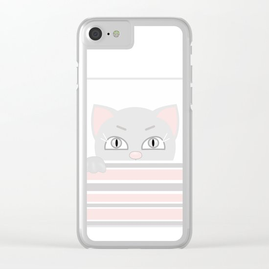 Small kitten. Clear iPhone Case