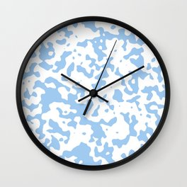 Spots - White and Baby Blue Wall Clock