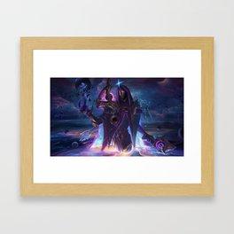 Dark Cosmic Jhin league of legends Framed Art Print
