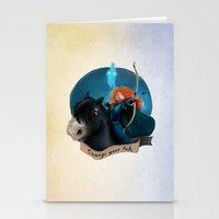 merida Stationery Cards featuring Merida by Fla'Fla'
