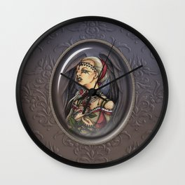 Marooned - Gothic Angel Portrait Wall Clock