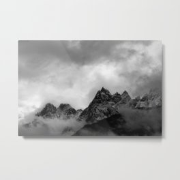 Chamonix Peaks Metal Print