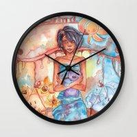 libra Wall Clocks featuring Libra by Trenita