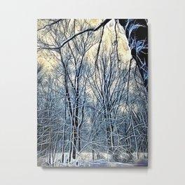 4 Oclock Winter Landscape Metal Print
