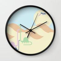dino Wall Clocks featuring Dino by Fandango089