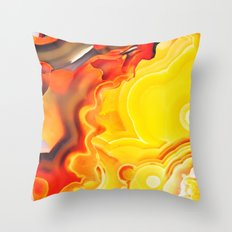 Earth's Fantasy, from the Lithosphere emerges Beauty - Agate Throw Pillow