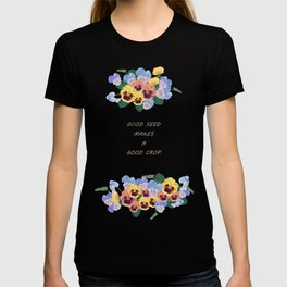 Watercolor painting, pansy flower T-shirt