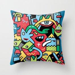 Barney Blimpsta Throw Pillow