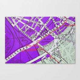 Paris in Purple Canvas Print