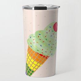 Colorful Ice Cream Cone Design Travel Mug