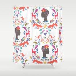 Frida Cameo in Blanca Shower Curtain