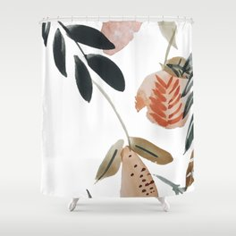 Pear Peach Orange Tree Shower Curtain