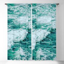 Teal Ocean Sea Waves - Summer Tropical Beach Blackout Curtain