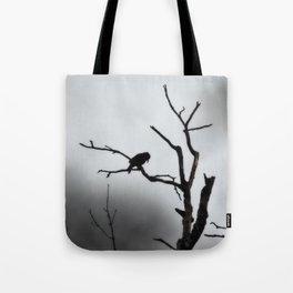 Solitary Crow Tote Bag